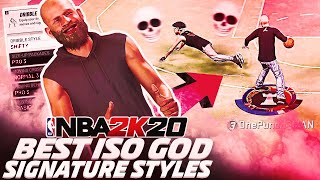 BEST ISO GOD SIGNATURE STYLES REVEALED ON NBA 2K20!! BECOME UNGUARDABLE INSTANTLY!!