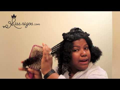 Como cortar las puntas de cabello natural, rizado, crespo