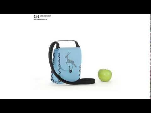 Finest-Trachten.de: Süße Trachtentasche zum Dirndl in Blau von Die Dirndltasche