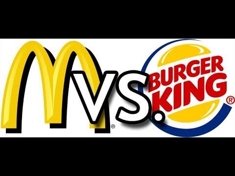 Макдоналдс или Бургер Кинг. Гамбургер и Чизбургер