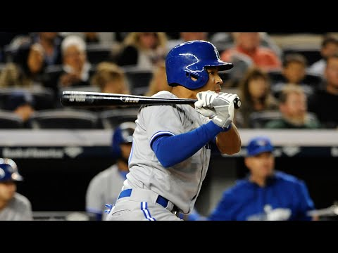 Video: Dalton Pompey's records first MLB hit at Yankee Stadium