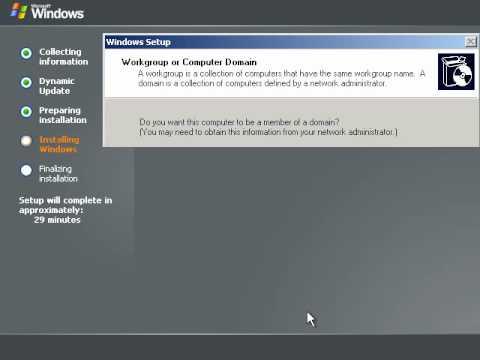 setup Windows Server 2003 Web Edition 2