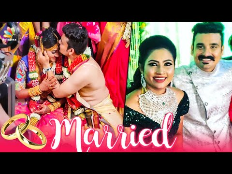 Myna Nandhini Romantic Wedding | Yogeshwaran Nayagai Serial, Aranmanai Kili | Celebrity Marriage