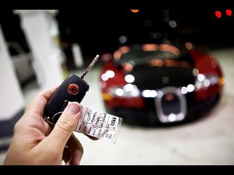 Bugatti Veyron Taking delivery of a Bugatti Veyron