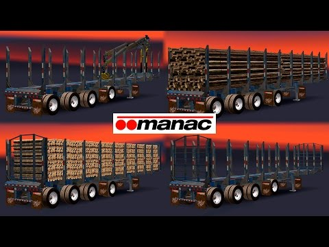 AMERICAN MANAC 4 AXIS LOG TRANSPORTER TRAILER 1.26.x