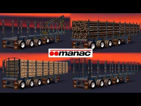 AMERICAN MANAC 4 AXIS LOG TRANSPORTER TRAILER 1.5.x