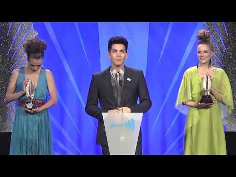 Mel B presents award to Adam Lambert at the #glaadawards