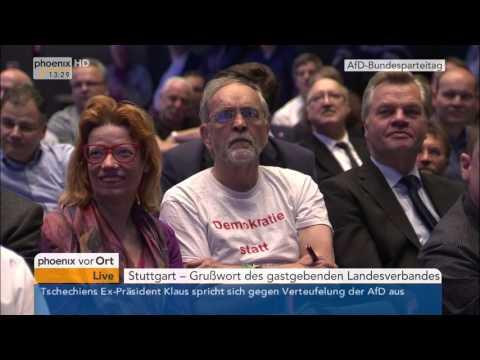 AfD: 5. AfD-Bundesparteitag - Rede von Jörg Meuthen am  ...