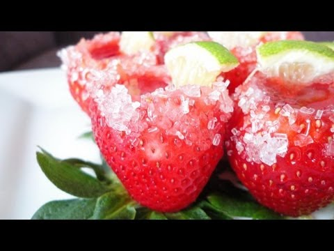 Margarita Strawberry Shots A VIDEO YOU HAVE TO SEE.
