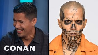 Video Jay Hernandez Sacrificed His Eyebrows To Play El Diablo  - CONAN on TBS MP3, 3GP, MP4, WEBM, AVI, FLV Juni 2018