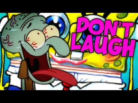 SPONGEBOB IS TOO MUCH!! Try not to Laugh Challenge - Spongebob SquarePants Edition