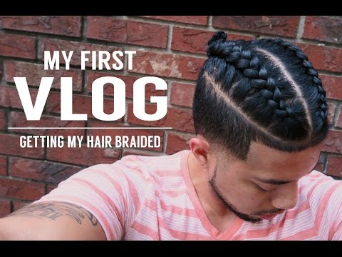 FIRST VLOG! GETTING MY HAIR BRAIDED | SAMURAI TOP KNOT MAN BUN |