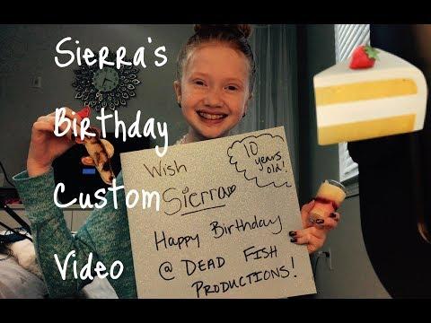 Funny birthday wishes - ASMR- Sierra's Custom Birthday Video! HAPPY BDAY!