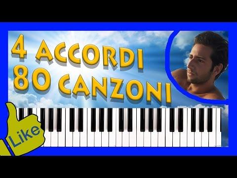 4 accordi, 80 canzoni famose da imparare al pianoforte: video-tutorial.