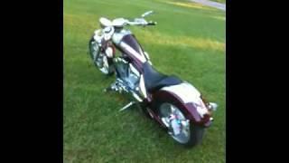 9. Custom airbrushed 2010 Honda Fury Chopper