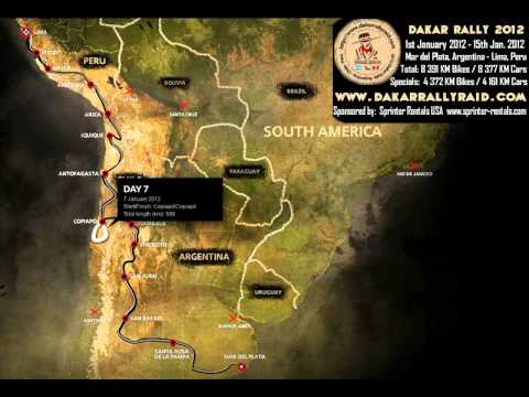 Dakar 2012 Race Course Map