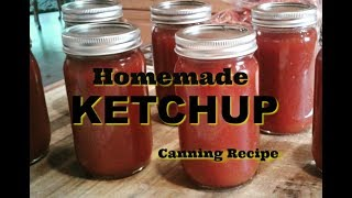 Homemade Ketchup recipe for canning that we made used.  This recipe for homemade ketchup was developed according to our taste.  Then we canned it in pint jars.  Canning preserves the homemade ketchup for future use and stores for several years. *****To order DSH T shirts and caps: http://stores.inksoft.com/Deep_South_Homestead/All-Products/-1  *****Cooking Southern Style with Deep South Homestead cookbook ***** Sweet Potato Manuel  to order  www.etsy.com/shop/deepsouthhomestead***RV wish list on amazon:https://www.amazon.com/gp/registry/wishlist/2UGP9L4YO9AD6/ref=cm_wl_list_o_1How to contact Deep South HomesteadP O Box 462 Wiggins, MS 39577email:  wankingdan20@gmail.comwebsite:  deepsouthhomestead.comemail: info@deepsouthhomestead.comCheck us out on Facebook, Instagram, and PintrestAmazon affiliate link:  http://amzn.to/2kwUu6h (Use this link at no extra charge and we get a small credit)*****Paypal account:  wankingdan20@gmail.com (If you wish to support projects on our homestead, use this account)Greenhouse panels from ONDULINE North America :  www.tuftexpanel.comHOSS TOOL  affiliate link:  http://www.shareasale.com/r.cfm?B=862842&U=1327136&M=65739&urllinkAlso check out our Bible channel  ALL GOD'S CHILDRENhttps://www.youtube.com/channel/UCv6KuZYC9GwU6JhTgEShYUg#deepsouthhomestead #homestead#offgrid #solar#rv#rvremodel#frugal#bushcrafting#porchtime