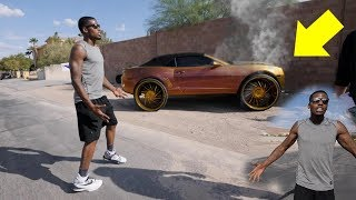 CRASHING CJ SO COOL CAR PRANK! ($100,000 CAR)