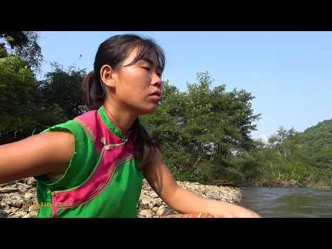 Survival Skills: Smart Girl's Fishing Skills Catch Big Fish For Survival - Cooking Big Fish
