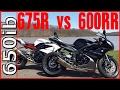 Triumph Daytona 675R vs Honda CBR 600RR!