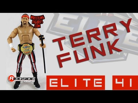 WWE FIGURE INSIDER: Terry Funk - WWE Elite Series 41 Toy Wrestling Figure from Mattel