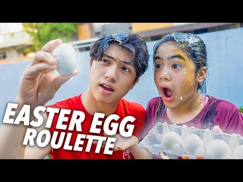 EASTER EGG ROULETTE CHALLENGE!! | Ranz and Niana