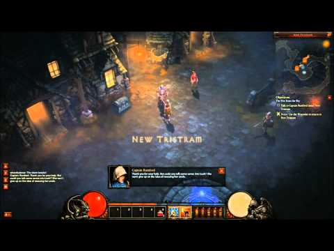 Diablo 3 Beta - Monk Gameplay - Old Tristram (Commentary)