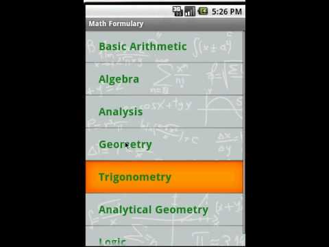 Video of Math Formulary