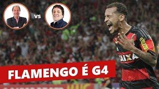 O Mengão está no G4 do Brasileirão! Veja os gols de Flamengo 2 x 0 Cruzeiro, com narrações de Luiz Penido, da Rádio Globo e...