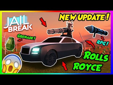 ROBLOX JAILBREAK! NEW CAR+RPG+GRENADE UPDATE!! Come Join The Duxim Squad!!   +GIVEAWAY