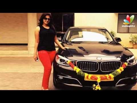 Actress Anjalis boy friend presents her a luxury car BMW | Hot Tamil Cinema News