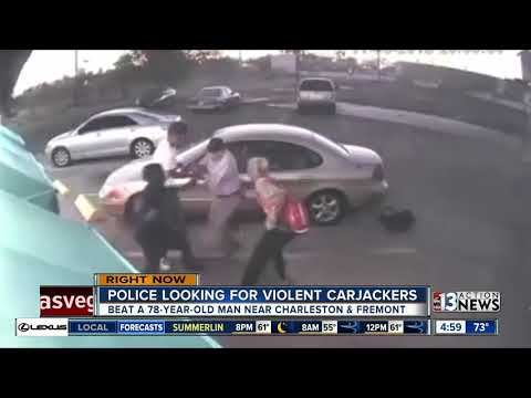 Las Vegas police looking for violent carjacking suspects