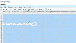 Arte colaborativo en Google Spreadsheets
