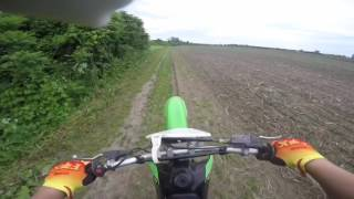 3. Kawasaki klx 125 L ride with my gopro