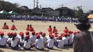 羽黒小運動会(その5)紅白応援合戦演技