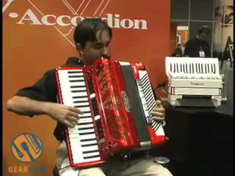Roland FR-7 Accordion demo video, Summer NAMM 2006