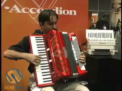 Roland FR-7 Accordion demo video, Summer NAMM 2006