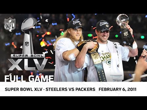 Super Bowl XLV | Packers vs. Steelers | NFL Full Game (видео)