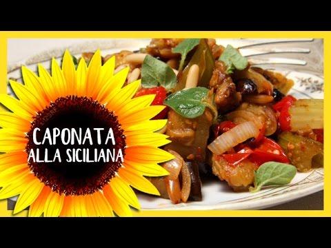 caponata alla siciliana - ricetta originale