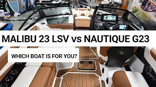 2. Malibu 23 LSV vs Nautique G23 | Which Boat is for You?
