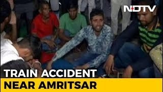 Many Killed As Train Runs Over People Watching Ravan Burning In Amritsar