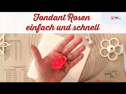 Fondant Rosen - einfach und schnell - Komplett