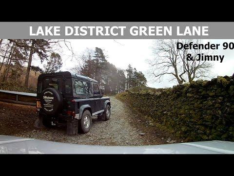 Full Lake District Green Lane. Defender + Jimny.