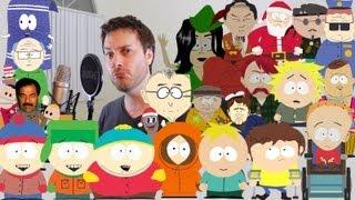 Il imite la voix de 31 personnages de South Park en deux minutes