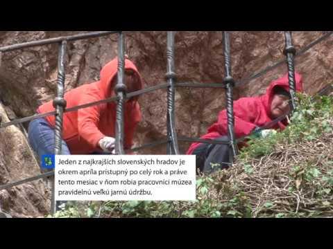 Príprava oravského hradu na letnú sezónu - VIDEO