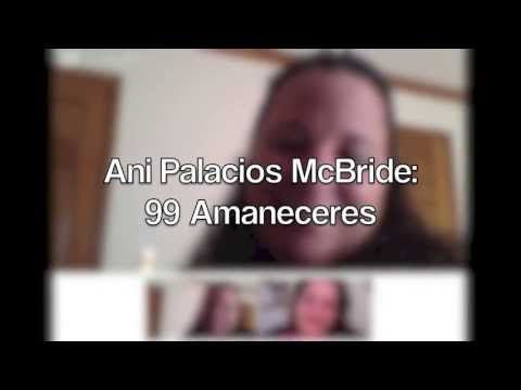 Ani Palacios McBride y su novela 99 Amaneceres