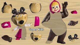 Video Masha and the Bear Wooden Toys New Toys Videos for Children Children Songs MP3, 3GP, MP4, WEBM, AVI, FLV November 2018