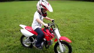4. 6 year old first solo motorcycle rides CRF50