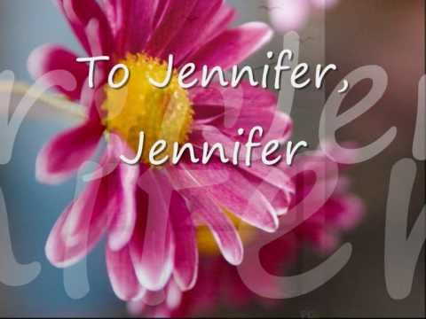 Jennifer By Bobby Sherman...with Lyrics