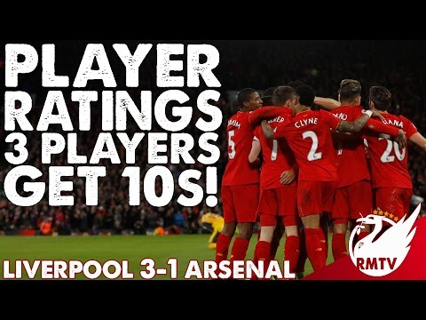 Liverpool V Arsenal 3-1 | 3 Players Get 10s! | Player Ratings